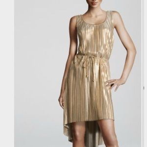 H&M Gold Pleated Dress