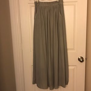 Philosophy Grey Maxi Skirt.
