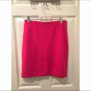 Ann Taylor Dresses & Skirts - Hot pink Ann Taylor knee length dress skirt