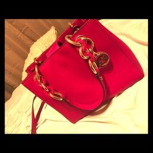 Michael Kors Handbags - MK Cherry Red Cynthia