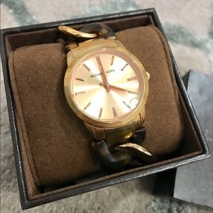 Michael Kors Accessories - Michael Kors Lady Nini Rose Gold Chain Link Watch
