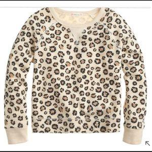 J. Crew Other - Like new CREW CUTS Girls Sz.10 Leopard Sweatshirt