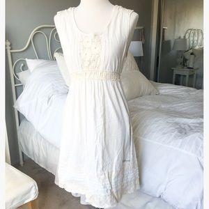 Cream Crochet Sundress
