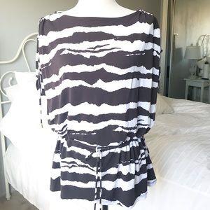Michael Kors Zebra Striped Top