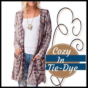 Boutique Sweaters - Cozy in Tie-Dye Cardi
