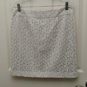 Cotton lace pencil skirt by LOFT