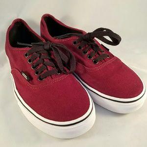 Vans maroon sneakers