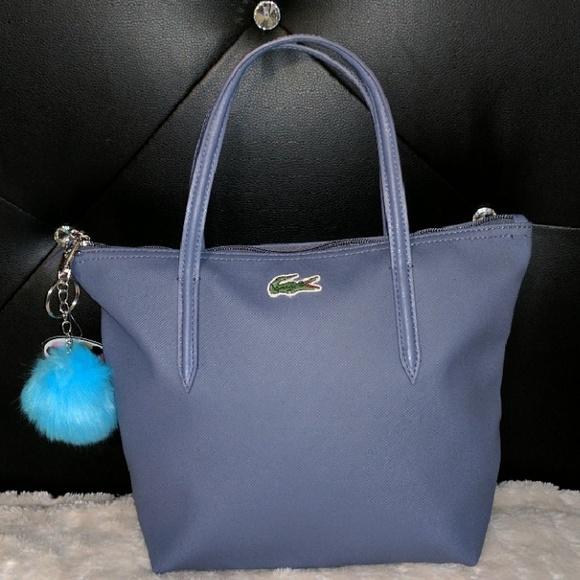 d1dca9bb53b Lacoste Handbags - Lacoste tote bag small blue-lavender