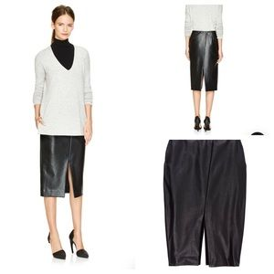 "Aritzia Babaton Vegan Leather ""Jax"" skirt"