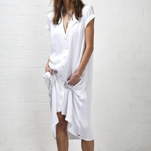 "One Teaspoon white ""Harlow"" shirt dress"