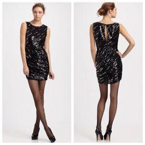 Alice + Olivia Dresses & Skirts - ➡Alice + Olivia Black Ruched Sequin Dress⬅