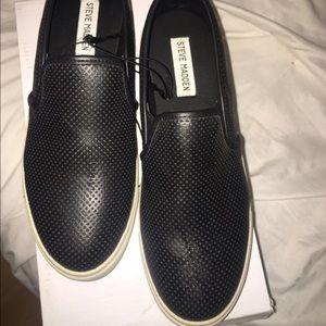 f4f2e3588d1 Steve Madden Shoes - STEVE MADDEN BLACK SLIP-ON PERFORATED SNEAKERS
