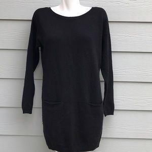 Vince Black Long Sleeve Sweater Dress