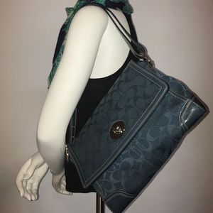 Coach Handbags - Blue Coach shoulder bag