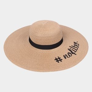 """Hannah Beury Accessories - """"#NoFilter"""" Floppy Hat"""