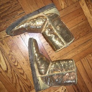 UGG gold sequin boots!