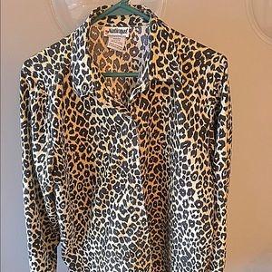 Tops - Earn your spots cheetah leopard print button down