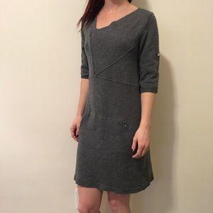 BCBGMaxAzria Dresses & Skirts - BCBGMaxAzria Heather Grey Wool Zipper Dress