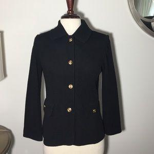 ST. JOHN black stretchy jacket size P