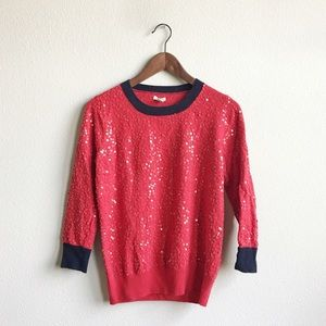 J. Crew Sequins Sweater