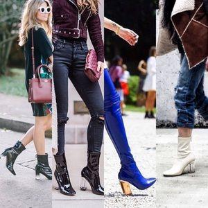 Zara Lucite Heel Booties