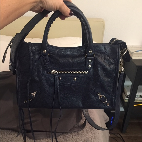 4192389774 Balenciaga Classic City Mini - Navy Blue