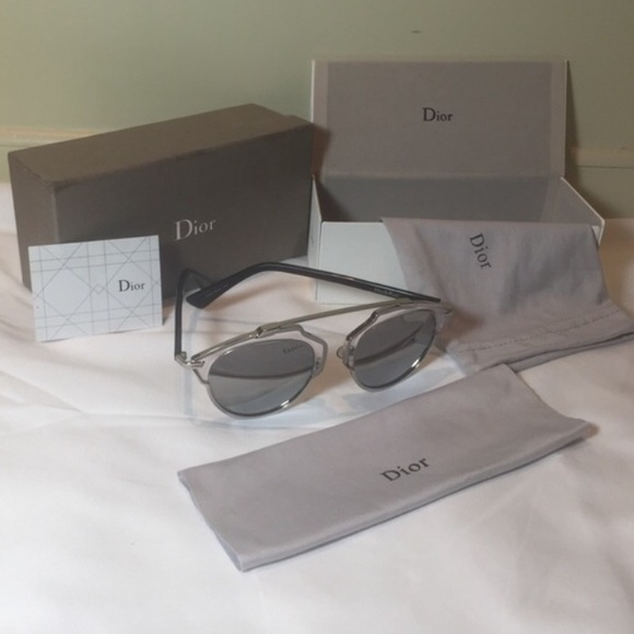 7c68c2e2de Dior Accessories - Dior So Real Metallic Silver Mirrored Sunglasses