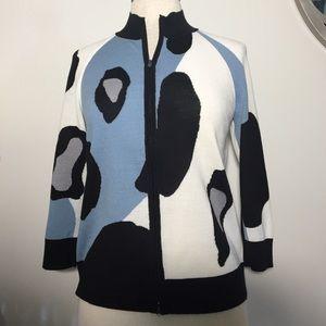 ST. JOHN zip up jacket size P