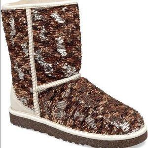 ugg shoes classic short sparkles sequin autumn brown new poshmark rh poshmark com