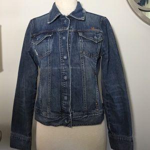 SALT distressed denim jacket size L