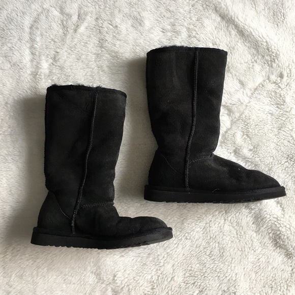 black tall ugg boots size 5