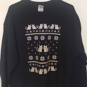 Sweaters - Sweater with cat pattern