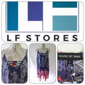 LF Stores Dresses & Skirts - LF House of Three Dress, Sz 8, Sleeveless, BlueRed