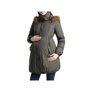 Kimi and Kai Jackets & Blazers - Kimi & Kai Lizzy Cinch Waist Hooded Maternity