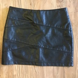 Forever21 faux leather mini skirt.