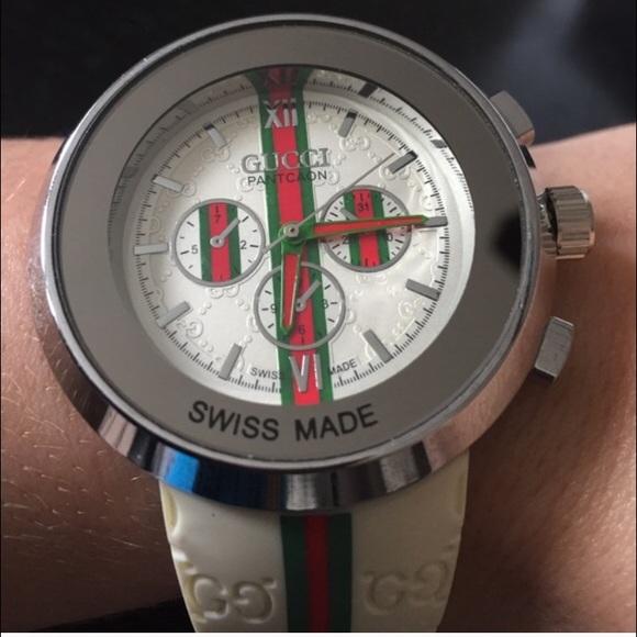 e18e650eccb Gucci Accessories - NWOT white GUCCI pantcaon watch