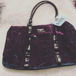 Kathy Van Zeeland Handbags - Purple/blue metallic Kathy von zeeland weekender