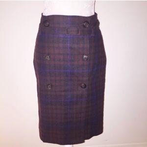 United Colors Of Benetton Dresses & Skirts - Benetton Plaid Wool Wrap Slim skirt Self belt 4