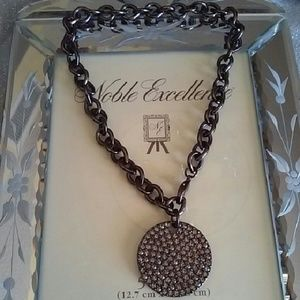 bebe Jewelry - PEWTER NECKLACE