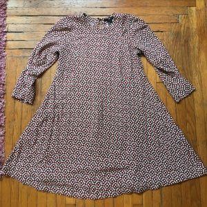 H&M Fun Printed Babydoll Mini Dress