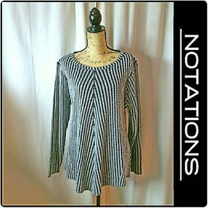 Notations  Sweaters - NWOT Notations Sweater Black and Grey