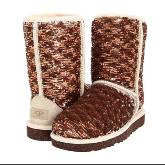 brown sparkle uggs
