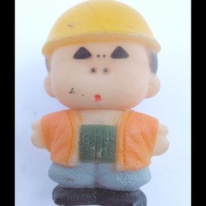 Jewelry - Vintage Little Man At Work Kawaii Japanese Brooch