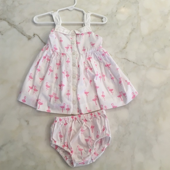 ee888c19bf54 Janie and Jack Other - Janie and Jack baby girl flamingo dress