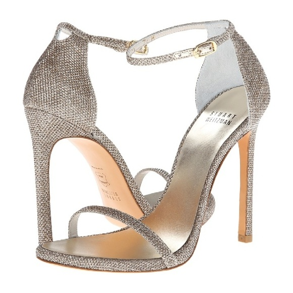 745d47632fb8 Platinum sparkle nudist heel. M 587fb1bfbcd4a7693800eab3. Other Shoes you  may like. STUART WEITZMAN ...