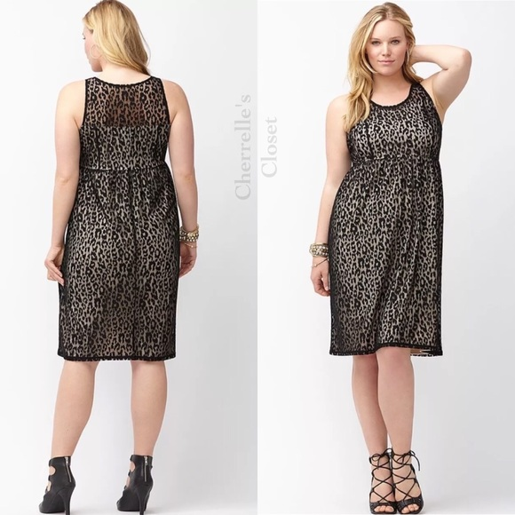 Lane Bryant Dresses | Lace Leopard Illusion Dress Plus Size | Poshmark