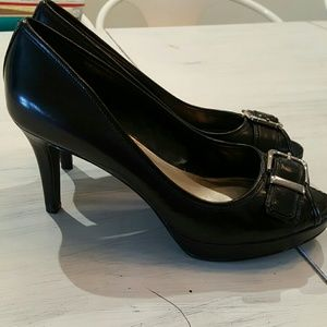 Alfani Shoes - Alfani Black Peep Toe Platform Pumps As New