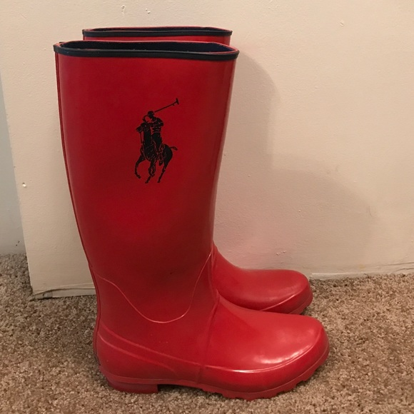 Red Polo Rain Boots