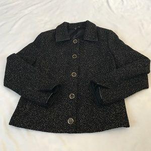 T Tahari Jackets & Blazers - T Tahari Tweed Black and Gold Jacket