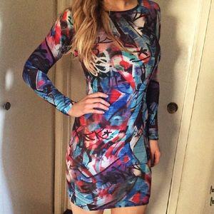 Topshop PETITE Dresses & Skirts - TOPSHOP Graffiti Print Bodycon Dress